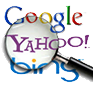 magnifying glass of search engine marketing